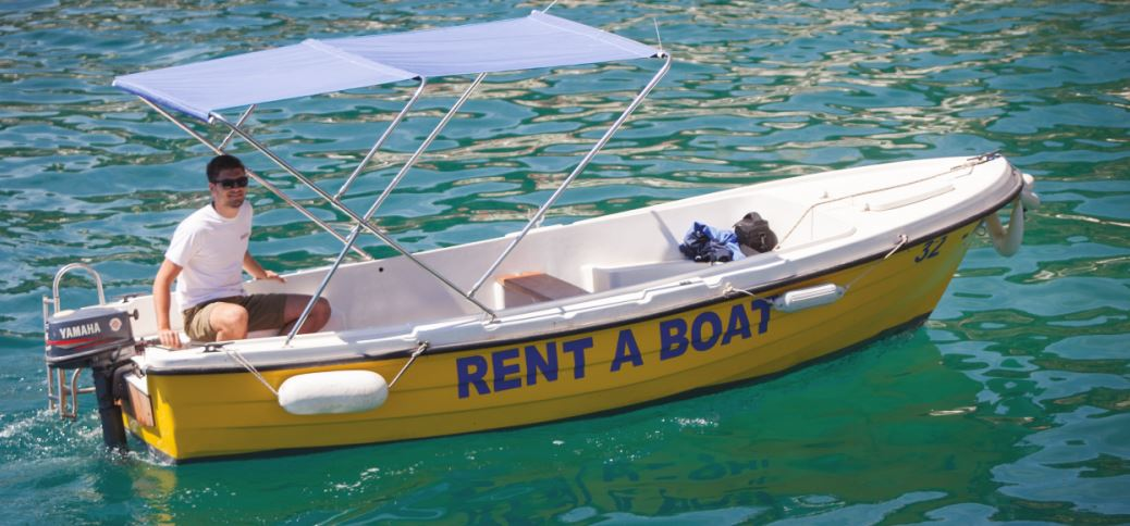 small boat for rent, Podgora